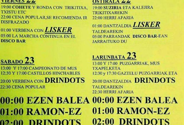 Fiestas Eulz 2017