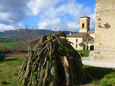 Festividad San Sebastien, hoguera en Eulz